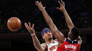 """""""Knicks"""" izlaiž 27 punktu pārsvaru un piedzīvo fiasko mājās pret Vašingtonu"""