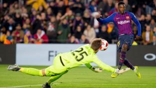 """Motivētā """"Barcelona"""" neatstāj variantus """"Levante"""", divi vārti Dembelē"""