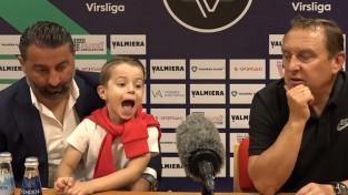 Pertija preses konferencē ar dēlu, Koņevs joprojām ilgojas pēc Lemajiča