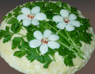 Vistas un sēņu salāti
