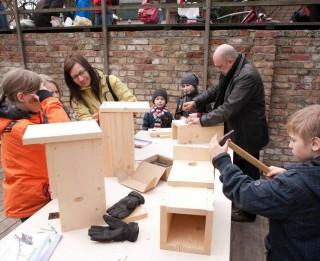 Putnu būrīšu darbnīca ģimenēm ar bērniem Kalnciema kvartālā