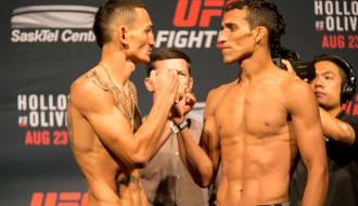 "Foto: ""UFC FIGHT NIGHT 74"" svēršanās procedūra"