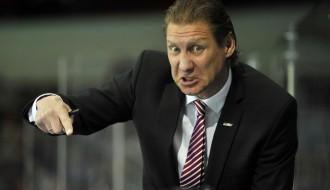 Foto: Emocijas un darba atmosfēra uz Latvijas izlases soliņa spēlē pret Slovākiju