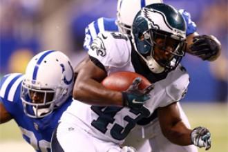 """""""Eagles"""" pēdējās sekundēs sagādā """"Colts"""" otro zaudējumu"""