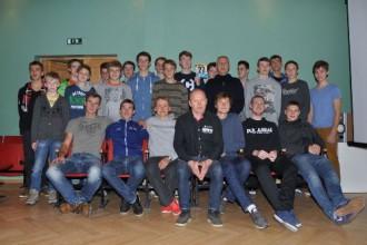 Latvijas vadošie šosejas un MTB riteņbraucēji tiekas ar jaunajiem talantiem