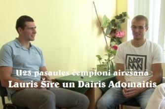 """Video: """"Airēšana audzina raksturu..."""": intervija ar airētājiem Lauri Šīri un Dairi Adamaiti"""