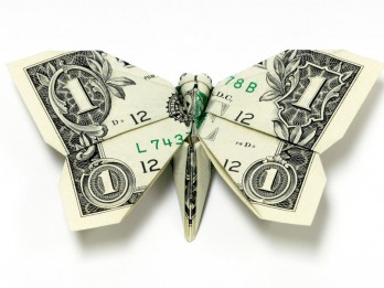 Foto: Oriģināli origami mākslas darbi no dolāru naudas zīmēm