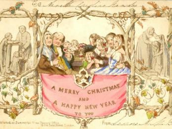 Tā izskatījās pasaulē pirmā Ziemassvētku apsveikuma kartiņa