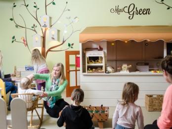 Green restorāns pretendē uz bērniem draudzīgākā restorāna titulu Rīgā