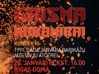 """Aicina apmeklēt 1991. gada barikāžu atcerei veltītu koncertu """"Gaisma nākamībai"""" Rīgas Domā"""