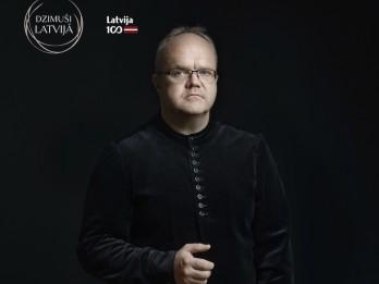 """Ciklā """"Dzimuši Latvijā"""" – diriģents Māris Sirmais un draugi – Raimonds Pauls, Kristīne Adamaite un Raimonds Tiguls"""