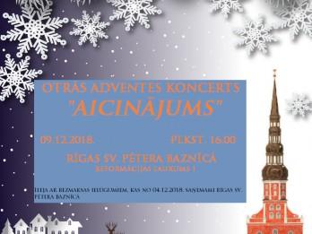 """Otrās Adventes koncerts """"Aicinājums""""  Rīgas Sv. Pētera baznīcā"""