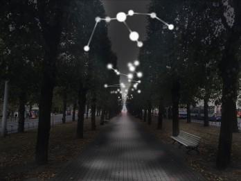 """Valsts svētku laikā Rīgā mirdzēs gaismas instalācija """"Latvijas zvaigznājs"""""""