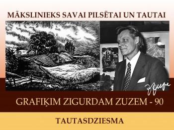 Turaidā atklās izstādi mākslinieka Zigurda Zuzes piemiņai
