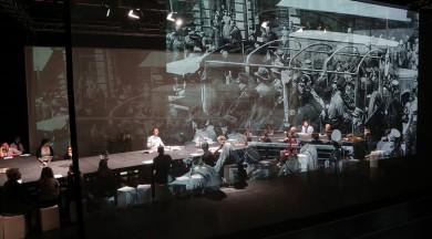 """Dokumentālā teātra izrāde """"Klupšanas akmeņi"""" un saruna ar autoriem un viesiem"""
