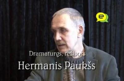 """Video: Hermanis Paukšs:''Labam režisoram jāspēj interesanti iestudēt telefonu grāmata..."""""""