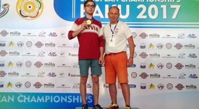 Šāvējiem Kovaļevskai un Erbam 16. vieta Eiropas čempionāta ievadā