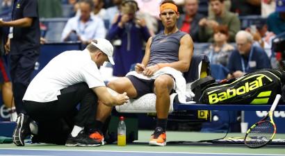 """Nadals nepabeidz maču, """"US Open"""" finālu sasniedz del Potro un Džokovičs"""
