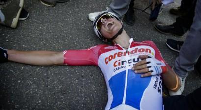 Van der Pūls neticamā veidā triumfē ''Amstel Gold Race''; Skujiņam 23. vieta