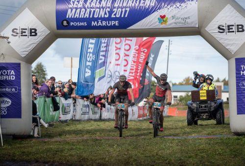 """SEB MTB maratona Mārupes posmā dominē """"ZZK"""", spraiga cīņa """"Virši – A"""" distancē"""