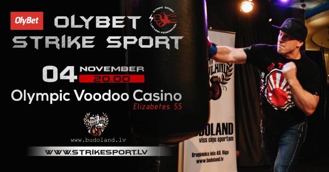 """4. novembrī """"Olympic Voodoo Casino"""" notiks Strike sport sacensības"""