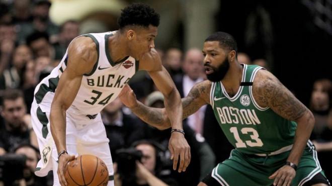 Adetokunbo ar 31+14 sarūpē Milvoki septīto spēli sērijā pret Bostonu