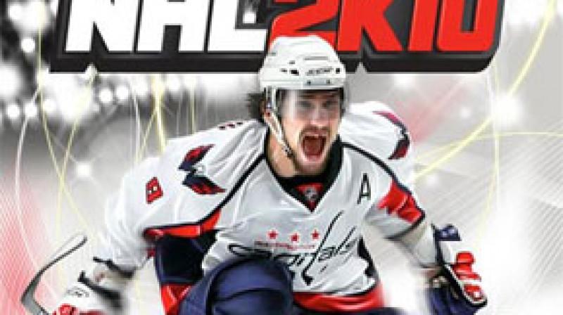 Aleksandrs Ovečkins uz NHL 2K10 vāka Foto: SN FirstCuts