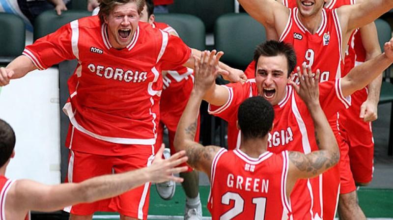 Gruzijas izlases basketbolisti Foto: eurobasket2011.com