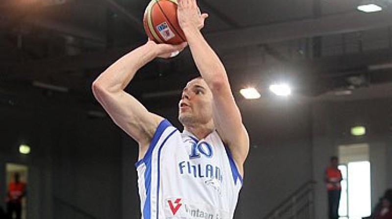 Tūka Kotī un Somija turpinās cīņu otrajā kārtā Viļņā Foto: eurobasket2011.com