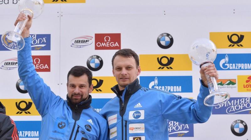 Martins un Tomass Dukuri. Foto: AP/Scanpix