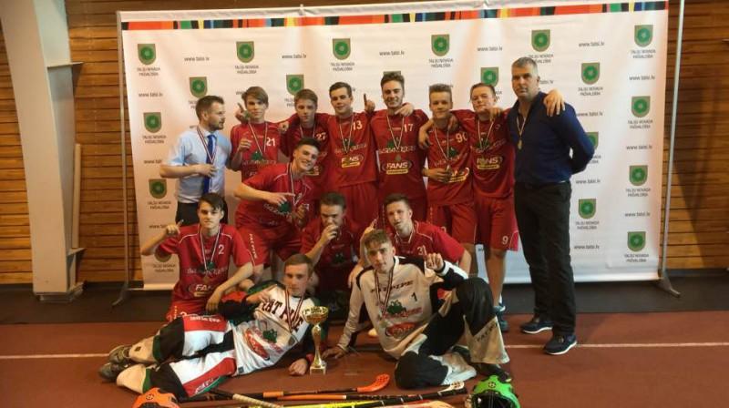 """Lielvārde"" U-16 vecuma grupā kļuvusi par čempioni Foto: Ritvars Raits, Floorball.lv"