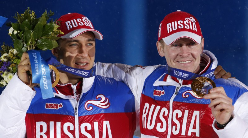 Aleksejs Vojevoda un Aleksandrs Zubkovs Foto: Reuters/Scanpix