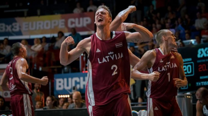 Latvijas 3x3 basketbola izlase. Foto: FIBA