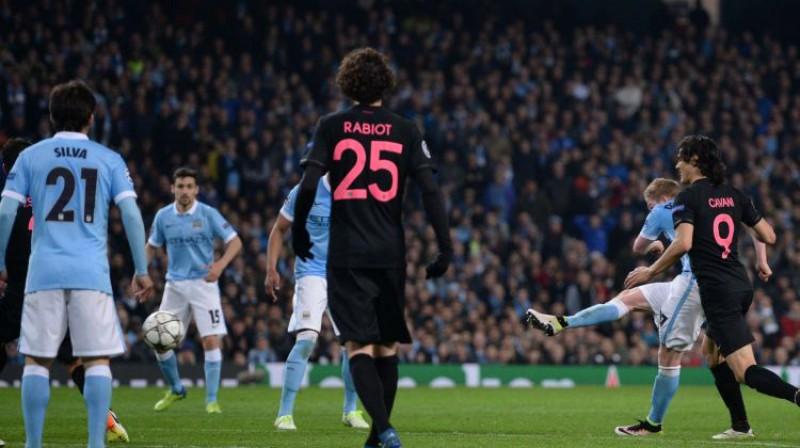 """PSG un Mančestras """"City"""" spēle Čempionu līgā 2016. gadā. Foto: AFP/Scanpix"""