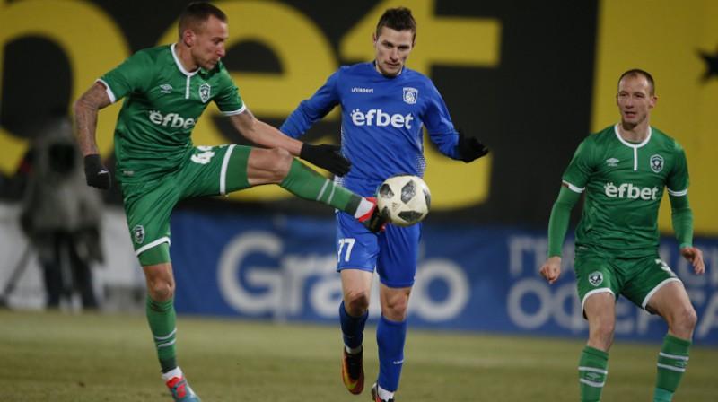 """Andrejs Kovaļovs pret """"Ludogorets"""". Foto: 7dnisport.bg"""
