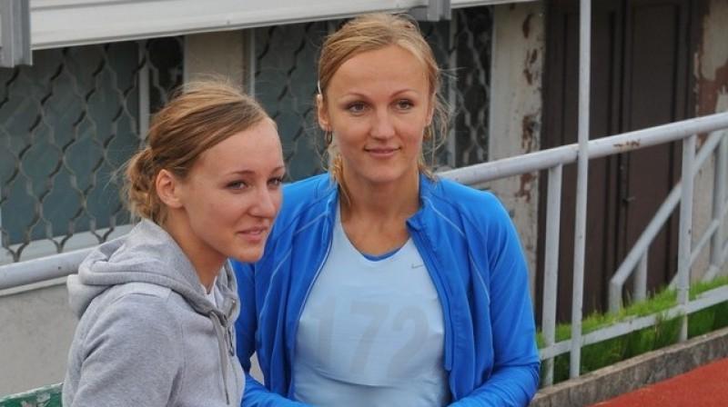 Māra Grīva un Lauma Grīva. Foto: Romualds Vambuts, Sportacentrs.com