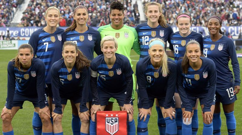 ASV sieviešu futbola izlase. Foto: Mark Zaleski / Associated Press, latimes.com