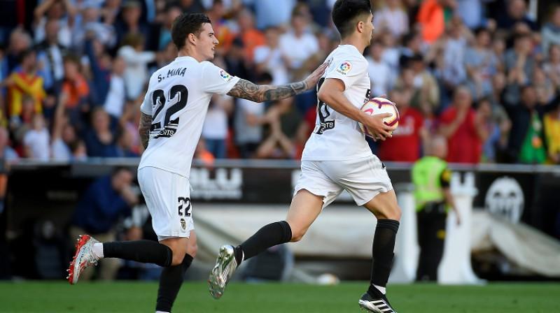 """""""Valencia"""" tuvojas Čempionu līgai. Foto: AFP/Scanpix"""