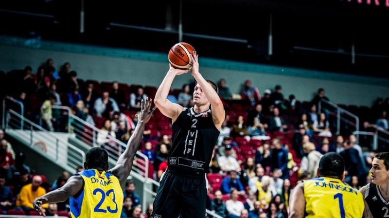 Artūrs Ausējs: 15 punkti ceturtajā finālspēlē. Foto: Basket.lv