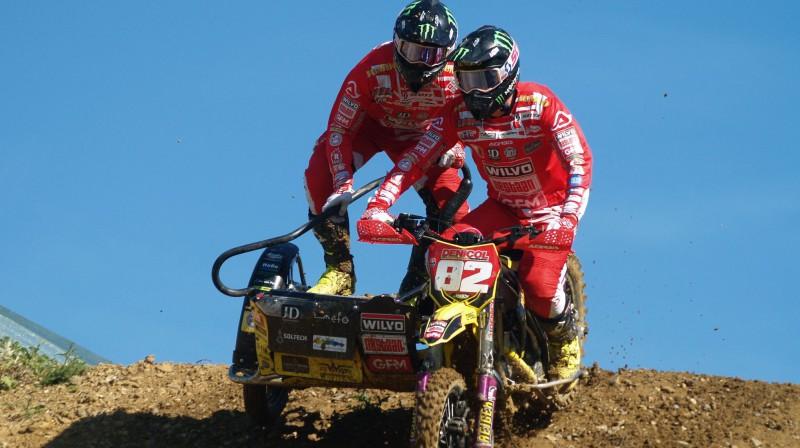 Etjēns Bakss un Kaspars Stupelis. Foto: Jeff Primmer