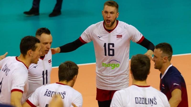 Latvijas volejbola izlases spēlētāji. Foto: Latvijas Volejbola Federācija