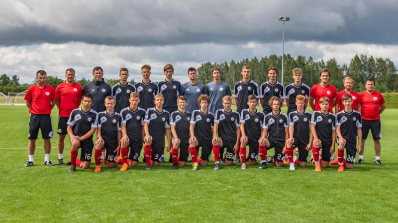 Latvijas U17 futbola izlase. Foto: lff.lv