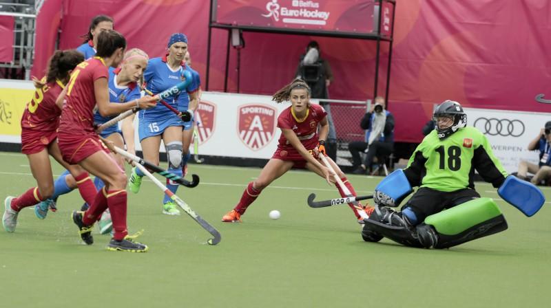 Epizode no Spānijas-Krievijas spēles Foto: AFP/Scanpix
