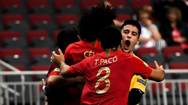 Portugāles U19 izlase. Foto: UEFA