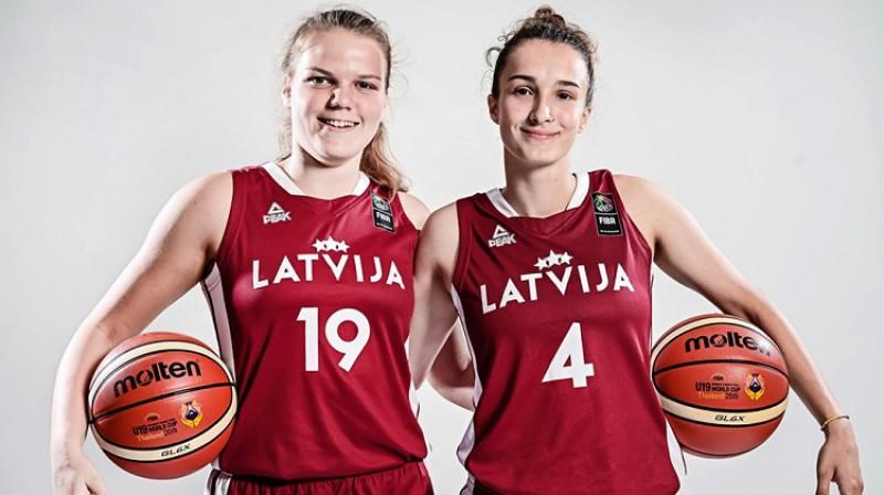 Jūrmalnieces Aleksa Purmale un Nikola Ozola pārstāvēja Latviju Pasaules U19 kausā Taizemē. Foto: FIBA