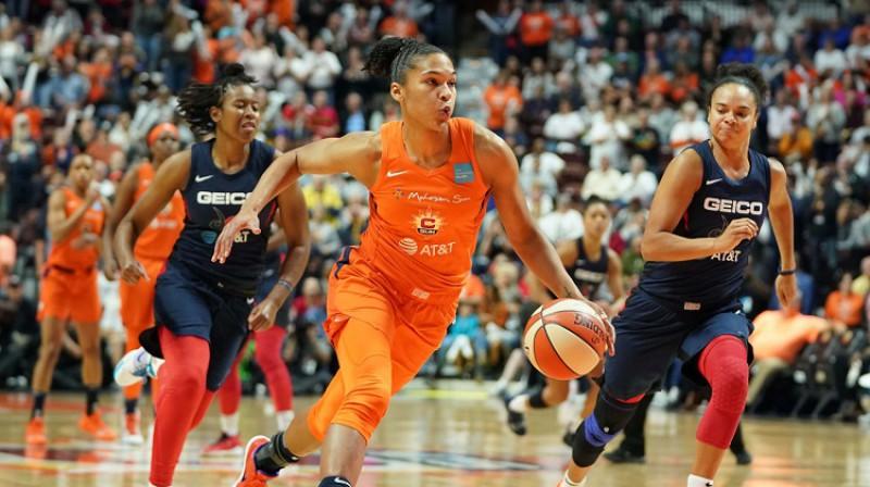 "Alisa Tomasa WNBA finālā pret ""Washington Mystics"". Foto: Scanpix"