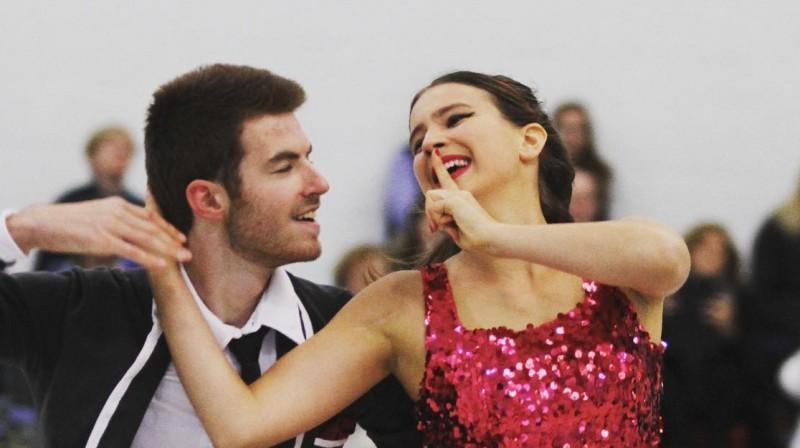 Dž.T. Mišels un Arēlija Ipolito. Foto: instagram.com/aurelijaippo
