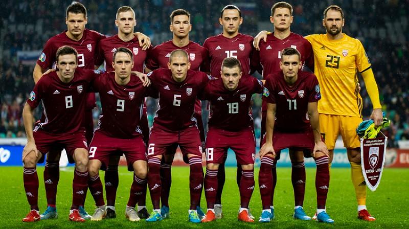 Latvijas izlase Ļubļanā 2019. gada 16. novembrī. Foto: LFF.