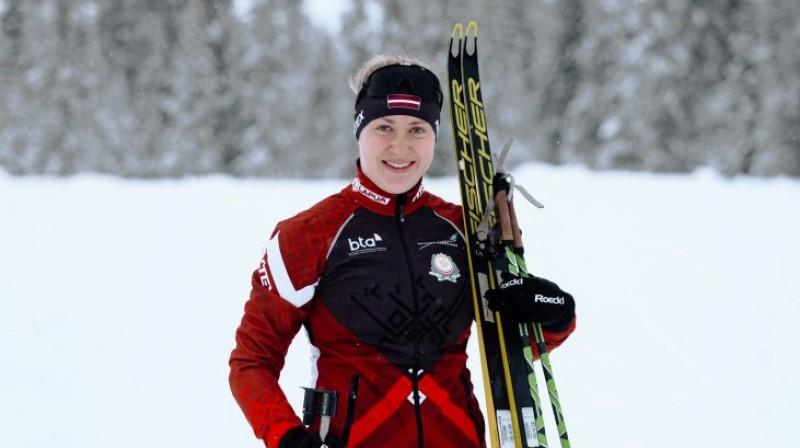 Sanita Buliņa. Foto: Latvijas Biatlona federācijas Facebook profils
