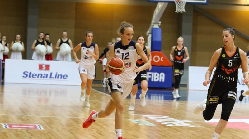 "Daniela Grigorjeva: 12 punkti pret Čehijas vicečempioni ""Žabiny Brno"". Foto: Ģirts Gertsons"